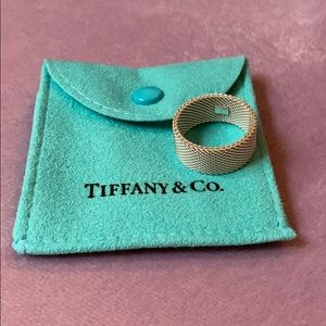 NWOT Tiffany Sterling Silver mesh ring, size 8